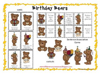 Birthday Bears for Free