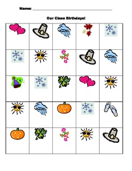 Birthday Bingo to Learn Months of the Year