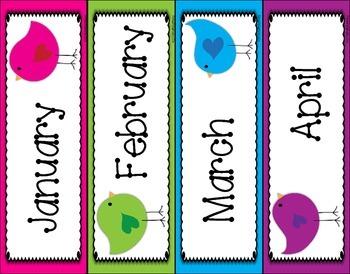 Birthday Board - Bird Themed