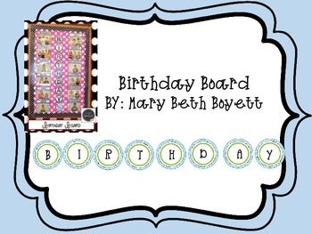 Birthday Board (Blue and Green)