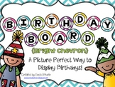Birthday Board - Bright Chevron