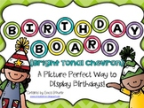 Birthday Board - Bright Tonal Chevron
