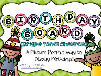Birthday Board - Bright Tonal Chevron