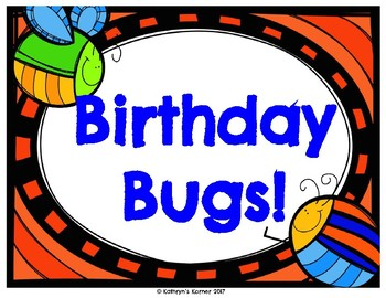 Birthday Board- Bug Theme
