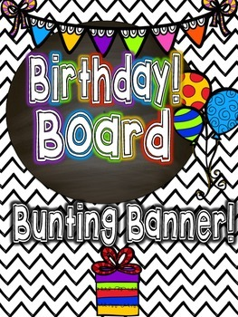 Birthday Board Bunting Banner!