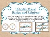 Birthday Board - Burlap and Rainbow