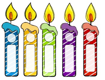 Légend image for birthday candle printable