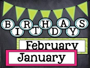 Birthday Board Classroom Decor