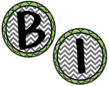 Birthday Board - Chevron & Lime Green