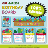 Birthday Board Classrom Decoration in Flower & Bugs Theme