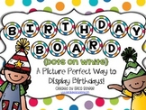 Birthday Board - Dots on White