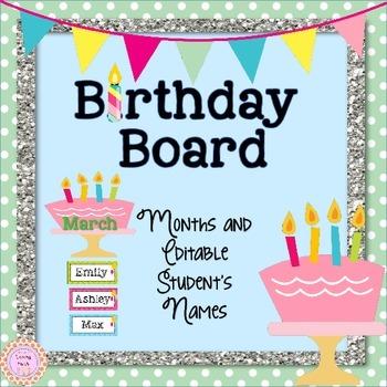 Birthday Board Editable