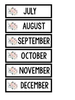Birthday Board ~ Floral