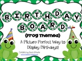 Birthday Board - Frog Themed