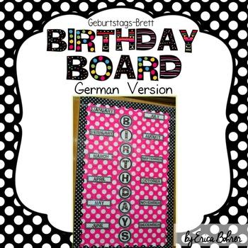 Birthday Board: German Version