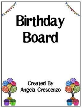 Birthday Board Glitter Style