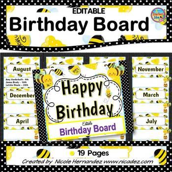 Birthday Board {Honey Bee Theme}