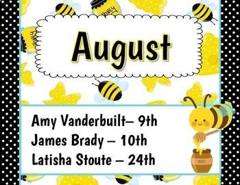 Birthday Bulletin Board Display {Honey Bee Theme}