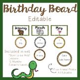 Birthday Board - Jungle Theme