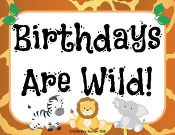 Birthday Board- Jungle Theme