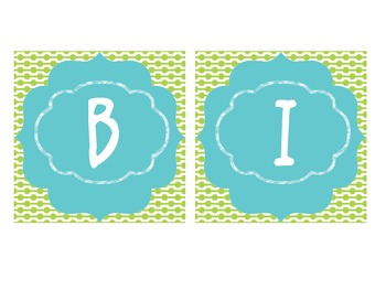 Birthday Board - Lime Green and Teal