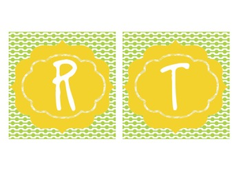 Birthday Board - Lime Green and Yellow
