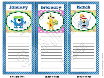 MONSTERS Themed Birthday Board - Bulletin Board Display, Classroom & Wall Decor