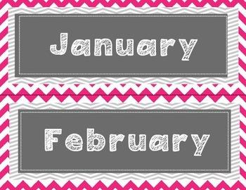 Birthday Board Pink Chevron