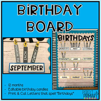 Birthday Board Set *Brights and Black and White*