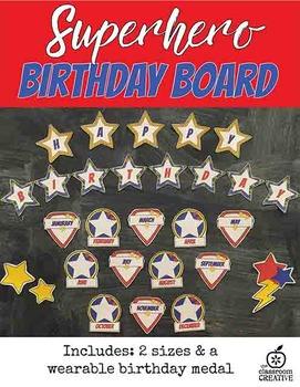 Birthday Board {Superhero Themed}