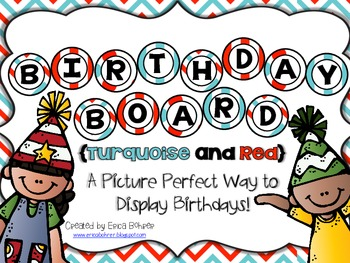 Birthday Board - Turquoise and Red