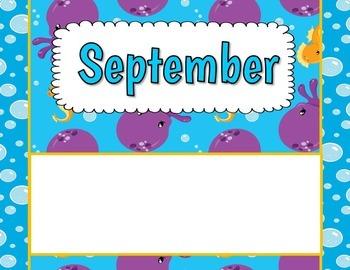 Birthday Bulletin Board Display {Ocean Theme}
