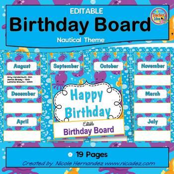 Birthday Board {Ocean Theme}