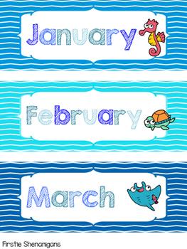 Birthday Board - Under the Sea Theme