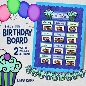 Birthday Board and Banner Classroom Decor