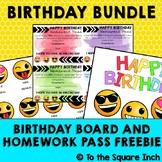 Birthday Board and Homework Pass