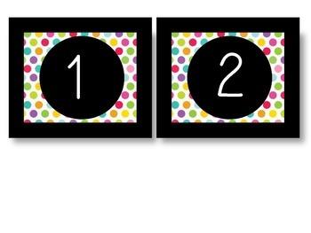 Birthday Board in Rainbow Dots