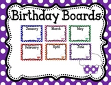 Birthday Boards: Polka Dots