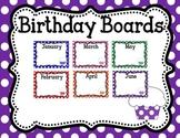 Birthday Display Boards Polka Dots Multi Colored