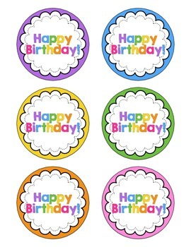 Let's Celebrate - Celebrating Birthdays in the Classroom