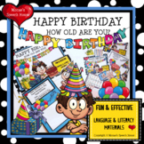 BIRTHDAY BOOK Early Reader Speech Therapy Pre-k Interactive AAC