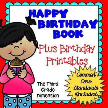 Birthday Writing Activity and Printables