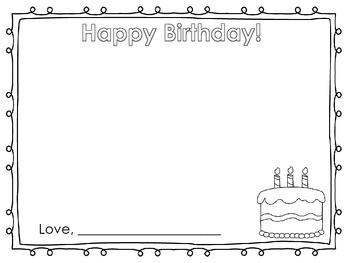 Birthday Book Activity