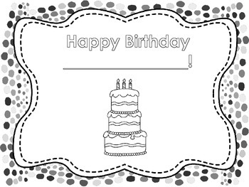 Birthday Book Activity