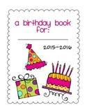 Birthday Book Class Gift