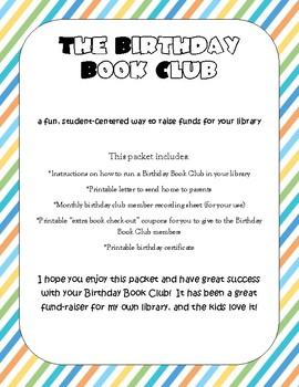 Library Birthday Book Club