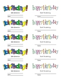 Birthday Book-It! Labels