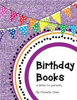 Birthday Book Letter