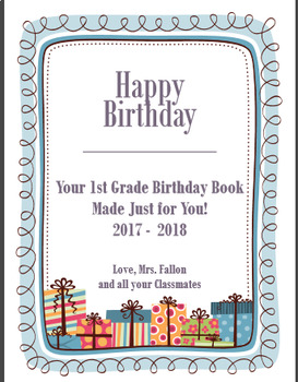Birthday Book Packet