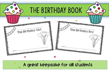 Birthday Book Printable